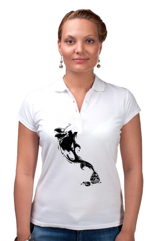 Printio Рубашка Поло Чернильный дельфин