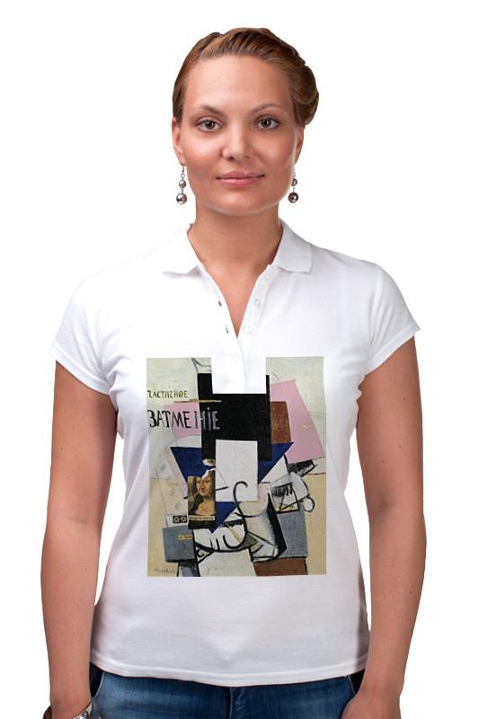 Printio Рубашка Поло Композиция с джокондой (казимир малевич)