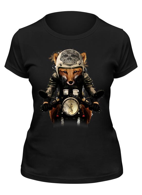 Фото - Printio Футболка классическая Лис на мотоцикле printio футболка классическая модный лис 1