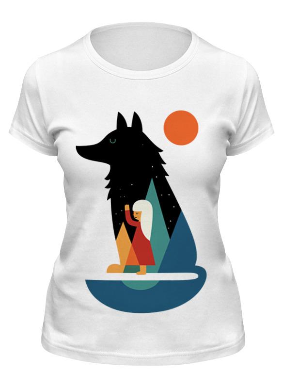 Printio Футболка классическая Девочка и волк
