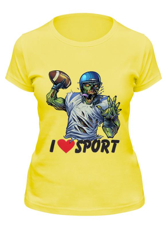 Printio Футболка классическая Зомби спорт - я люблю спорт