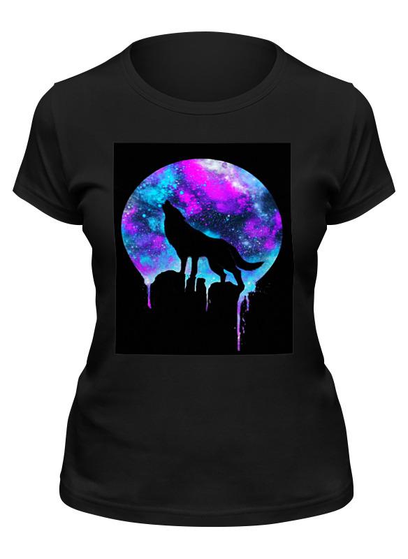 футболка классическая printio волк и луна Printio Футболка классическая волк и луна