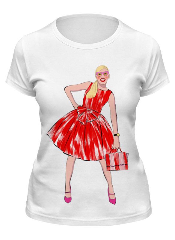 Printio Футболка классическая Девушка в красном платье