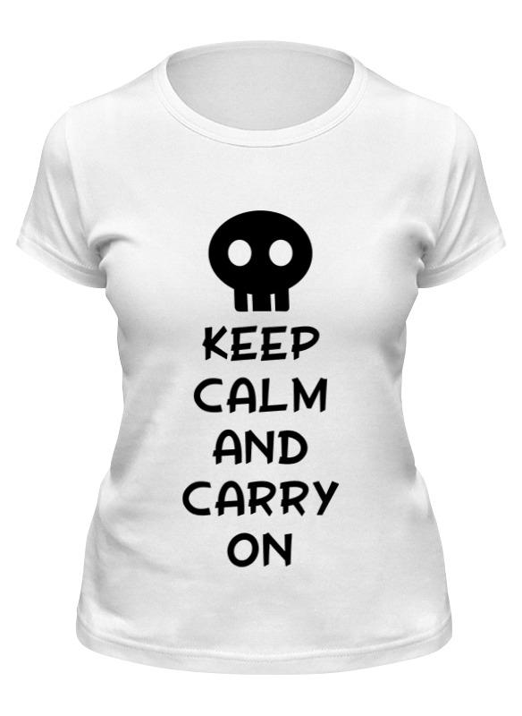 Printio Футболка классическая Keep calm and carry on недорого