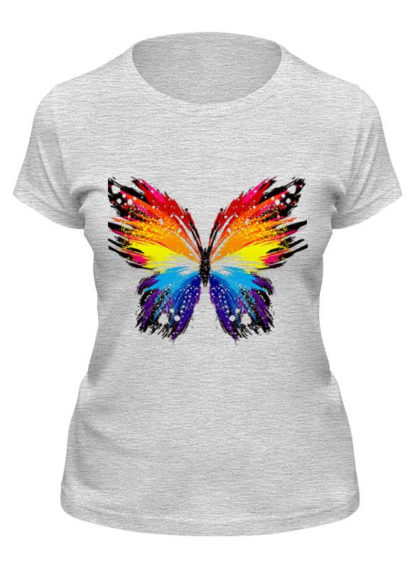 Printio Футболка классическая бабочка, радуга