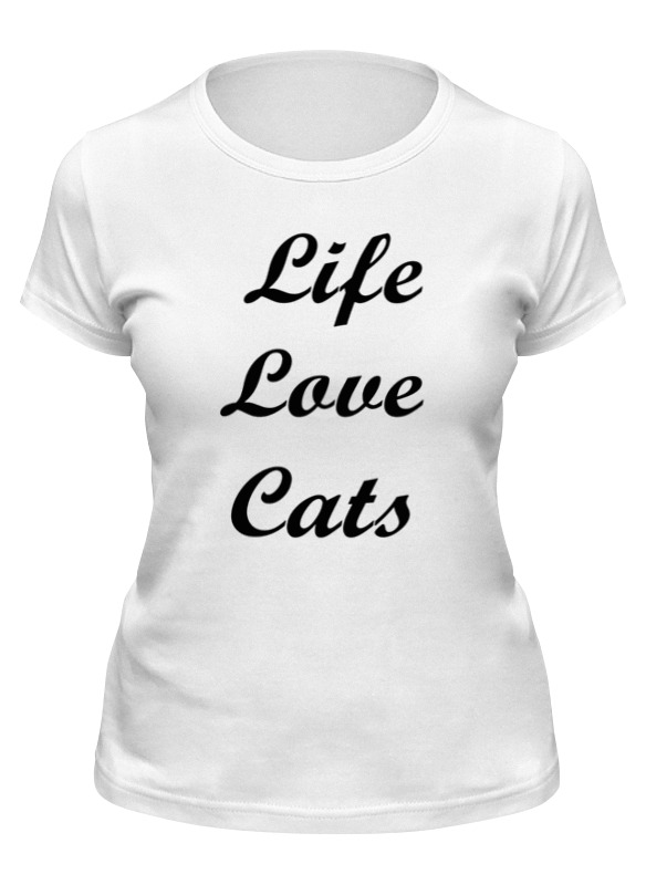 Printio Футболка классическая Жизнь, любовь, коты
