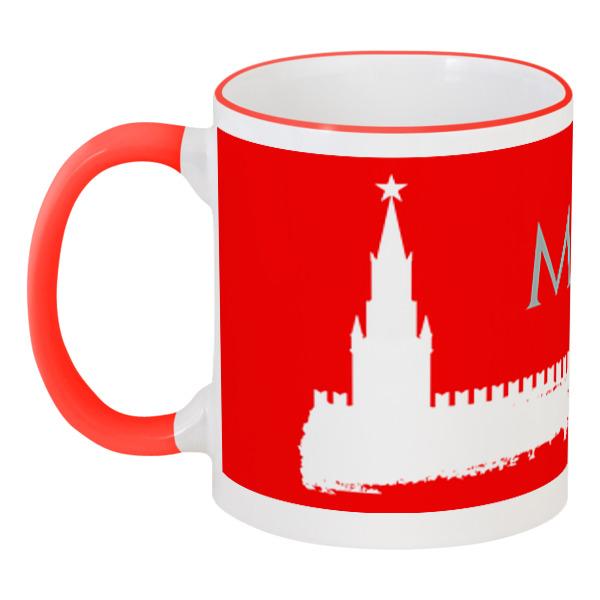 Printio Кружка с цветной ручкой и ободком Москва, кремль. printio кружка московский кремль