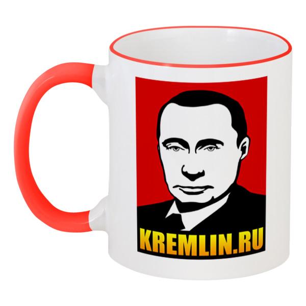 Printio Кружка с цветной ручкой и ободком Путин