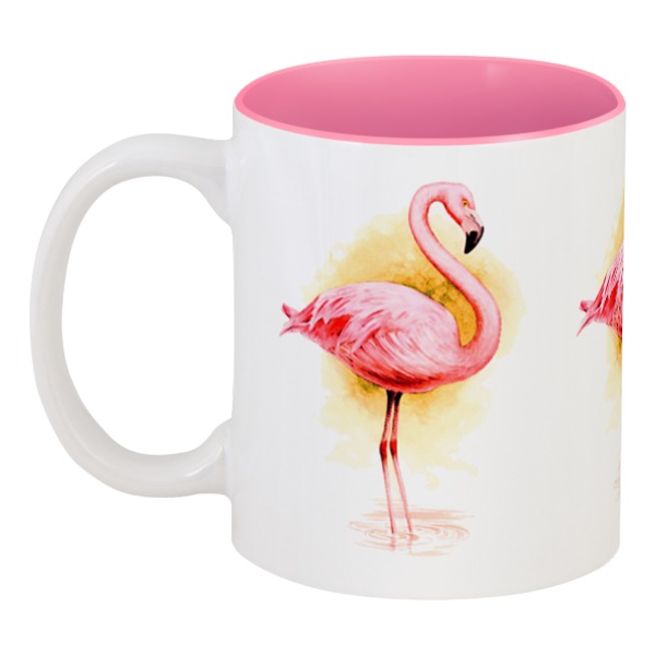 Printio Кружка цветная внутри Фламинго