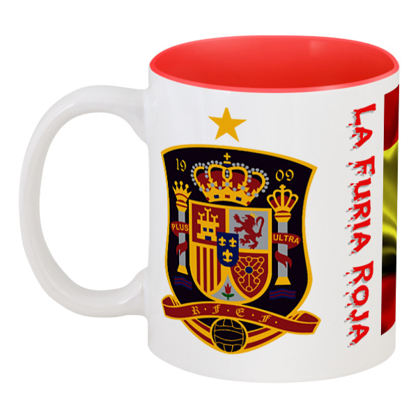 Printio Кружка цветная внутри Сборная испании