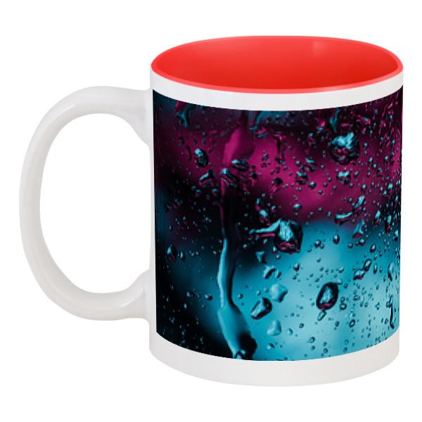 Printio Кружка цветная внутри Дождь