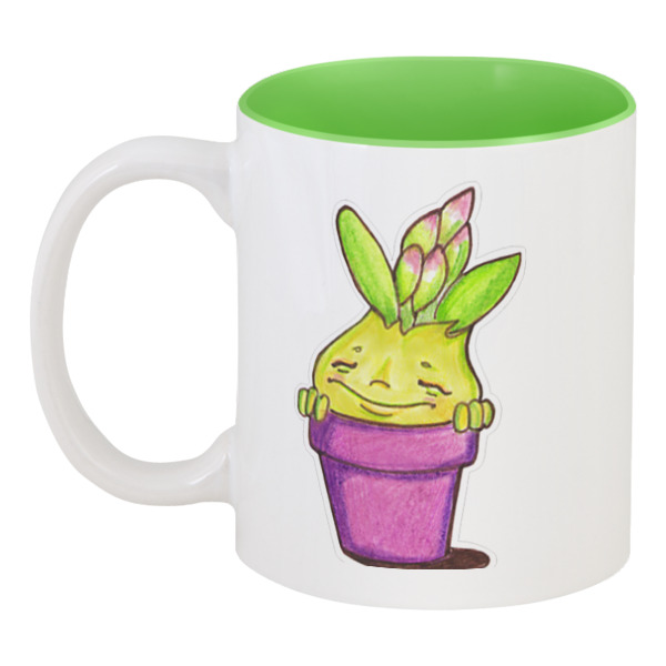 Printio Кружка цветная внутри Весенний гиацинт