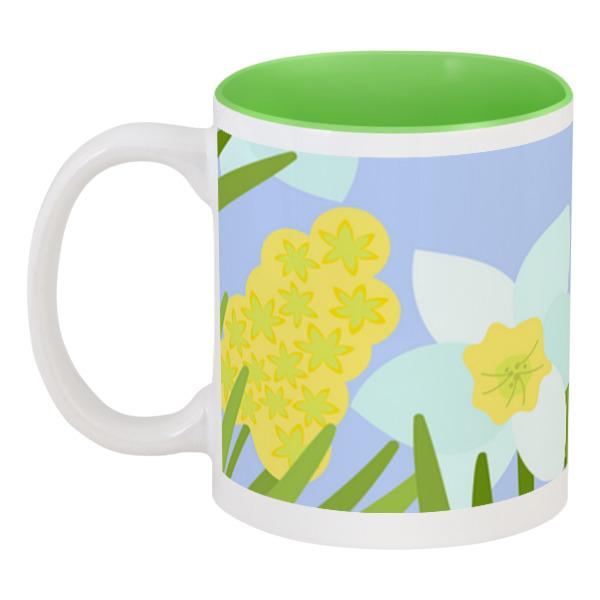 Printio Кружка цветная внутри Весенние цветы