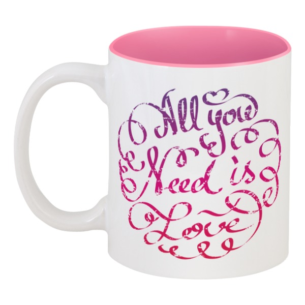 printio кружка all you need is latte Printio Кружка цветная внутри All you need is love