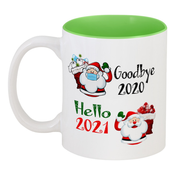 Printio Кружка цветная внутри Goodbye 2020, hello 2021👋