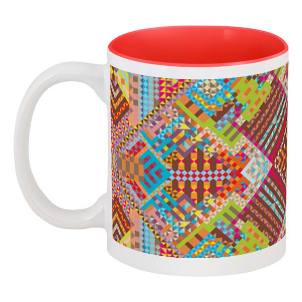 Printio Кружка цветная внутри с абстрактным рисунком printio сумка с абстрактным рисунком
