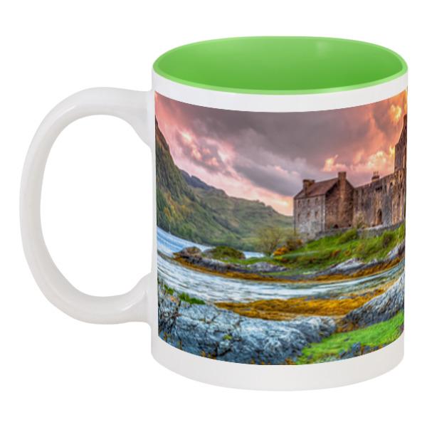 Фото - Printio Кружка цветная внутри Замок в шотландии набор полесье замок башня замок стена с двумя башнями замок мост 37251