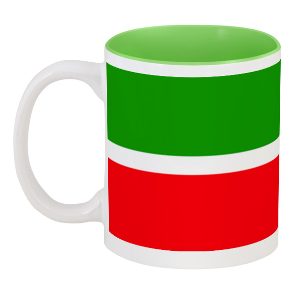 Printio Кружка цветная внутри Флаг татарстана