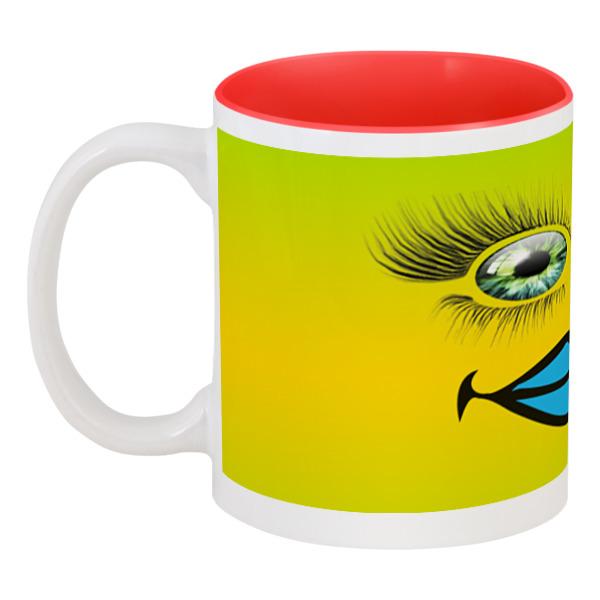 Printio Кружка цветная внутри Разноцветные глаза