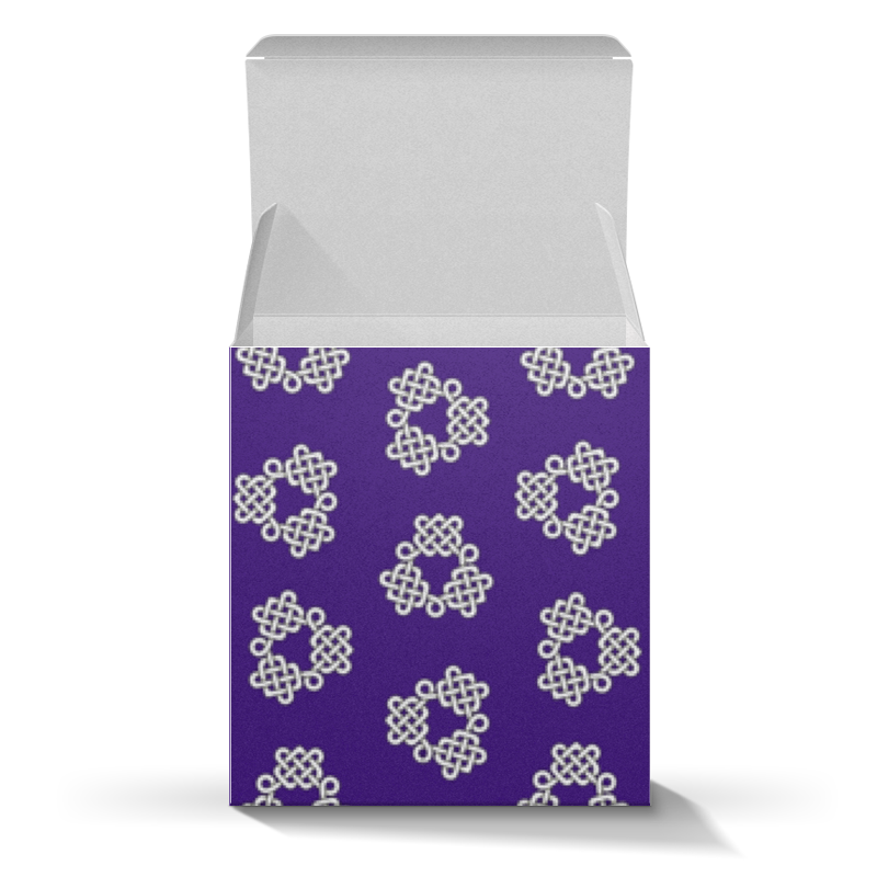 Printio Коробка для кружек Фиолетовая коробка с кельтспиннер узором