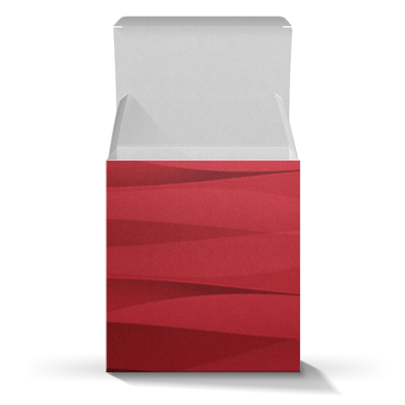 Printio Коробка для кружек Красная абстракция недорого