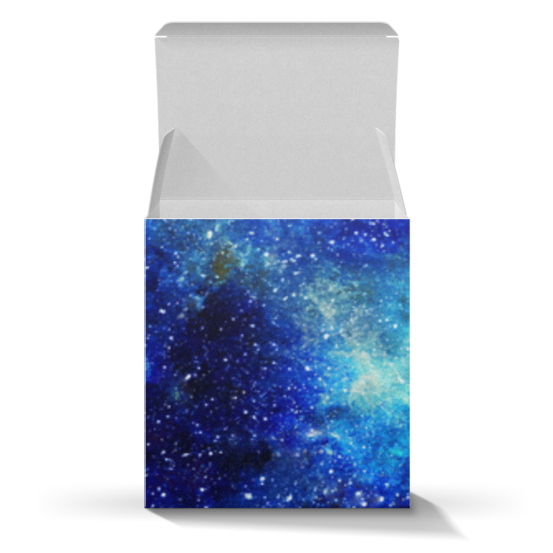 Printio Коробка для кружек Космос (синий)