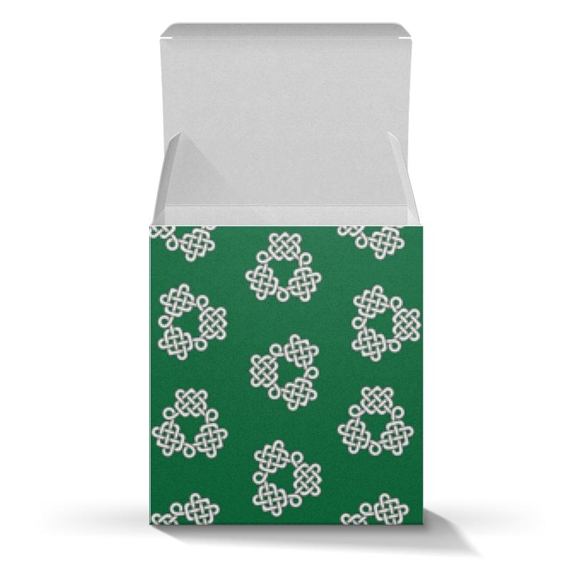 Printio Коробка для кружек Зелёная коробка с кельтспиннер узором