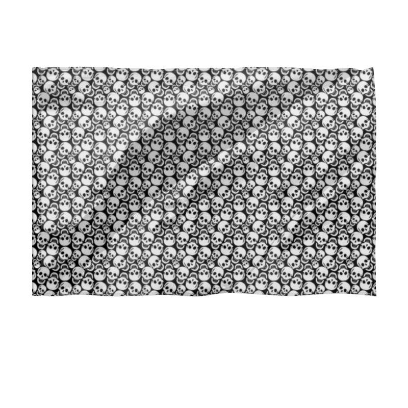 Printio Флаг 150×100 см Черепа
