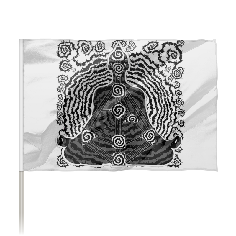 Printio Флаг 150×100 см Human design