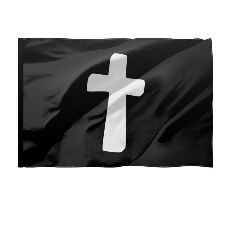 Printio Флаг 150×100 см Белый крест