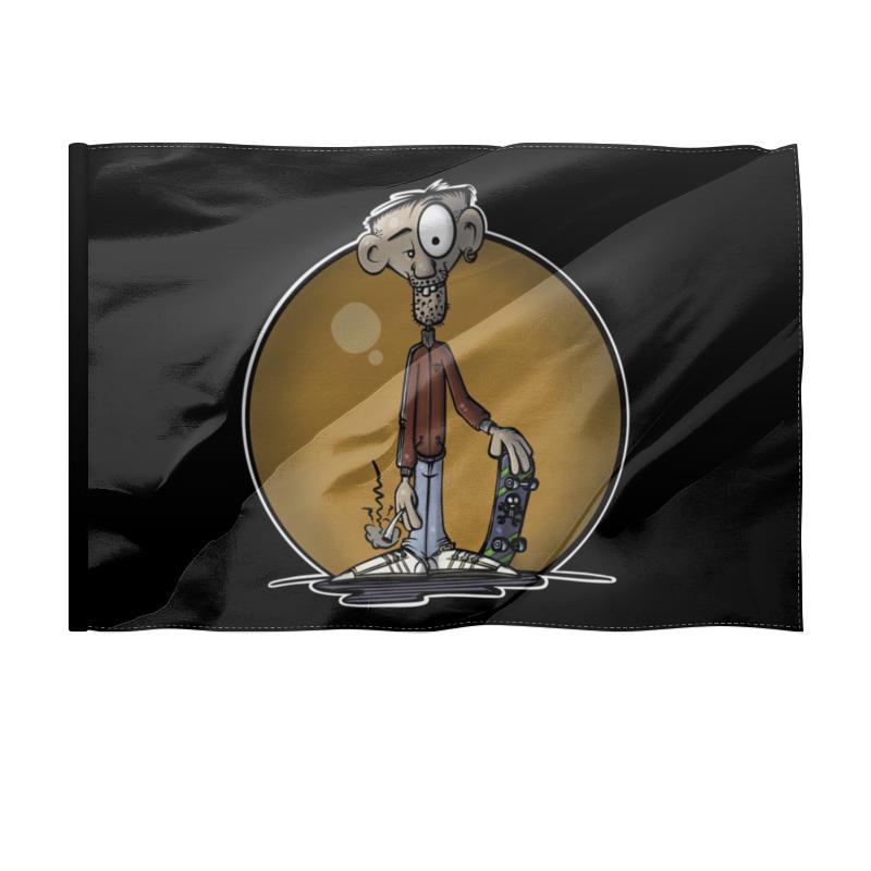 Printio Флаг 150×100 см Скейтбордист