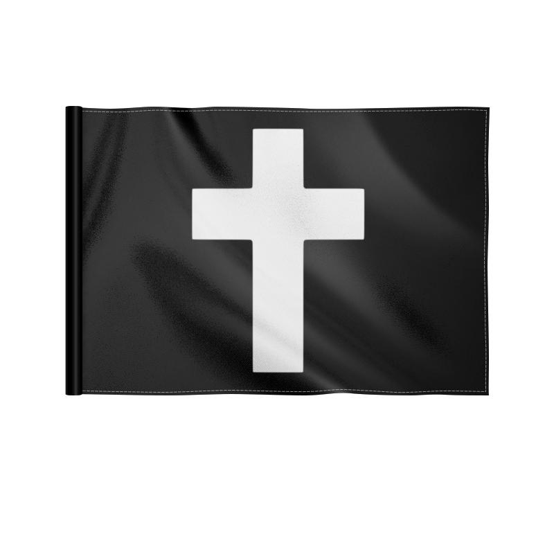 Printio Флаг 22×15 см Белый крест