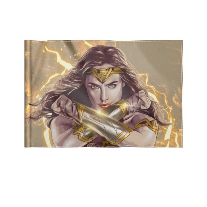 Printio Флаг 22×15 см Чудо-женщина / wonder woman