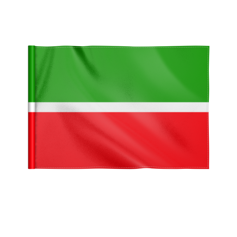 Printio Флаг 22×15 см Республика татарстан автокарта самарская область республика татарстан