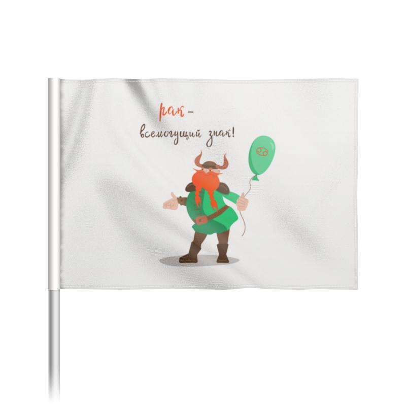 Printio Флаг 22×15 см Викинг. подарок для рака.