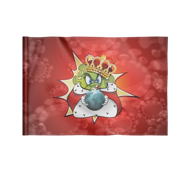 Фото - Printio Флаг 22×15 см Ковид - царь мира. printio коробка для кружек ковид царь мира