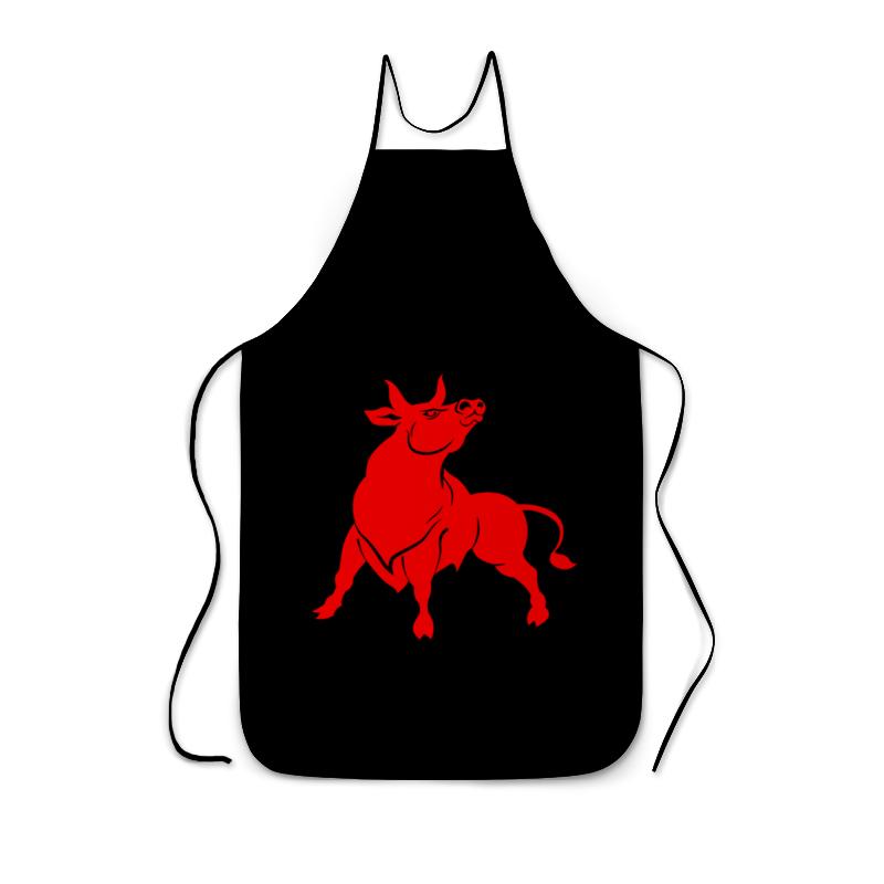 Printio Фартук с полной запечаткой Красный бык