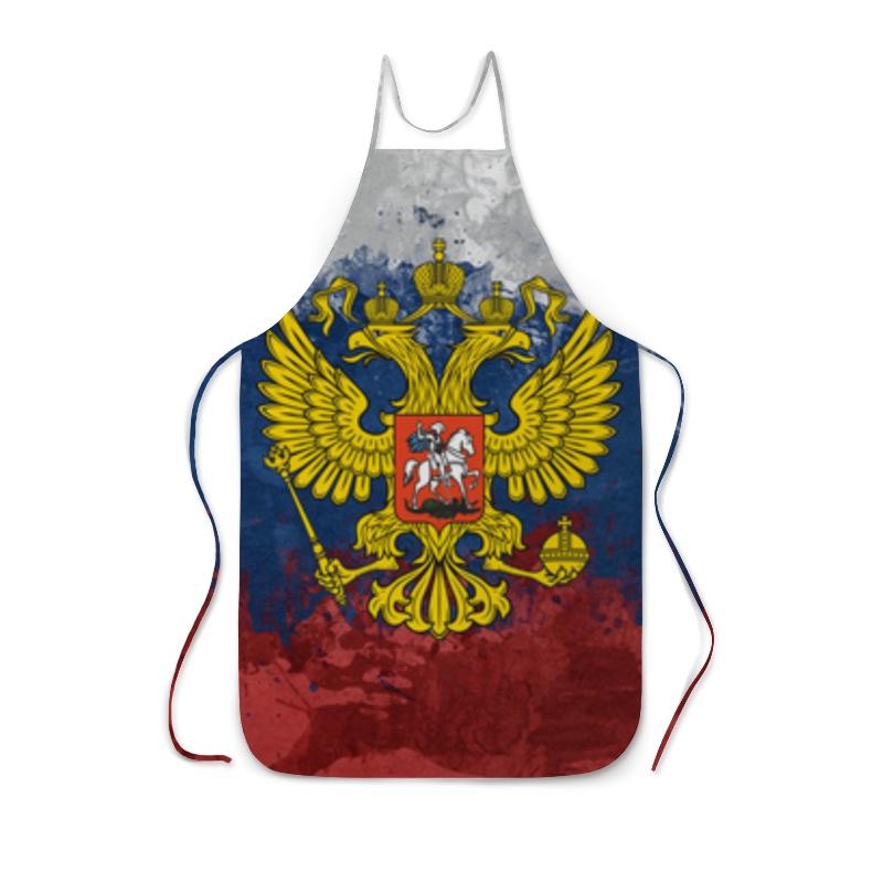 Printio Фартук с полной запечаткой Флаг и герб россии