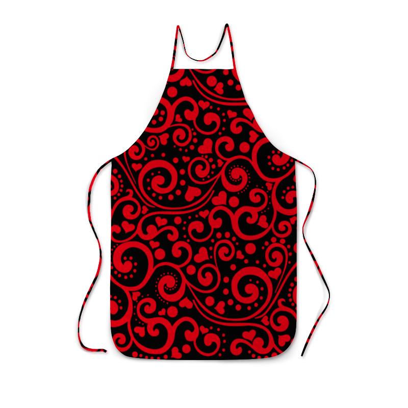 Printio Фартук с полной запечаткой Красный узор