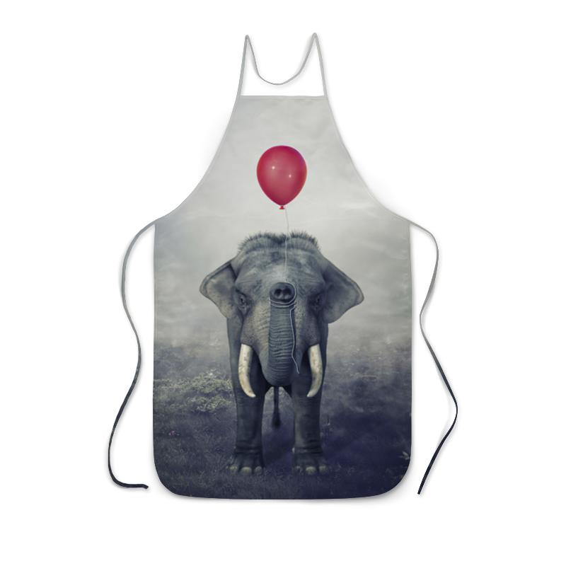 Printio Фартук с полной запечаткой Красный шар и слон