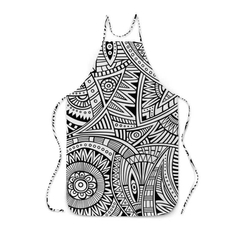 Printio Фартук с полной запечаткой Черно-белый узор