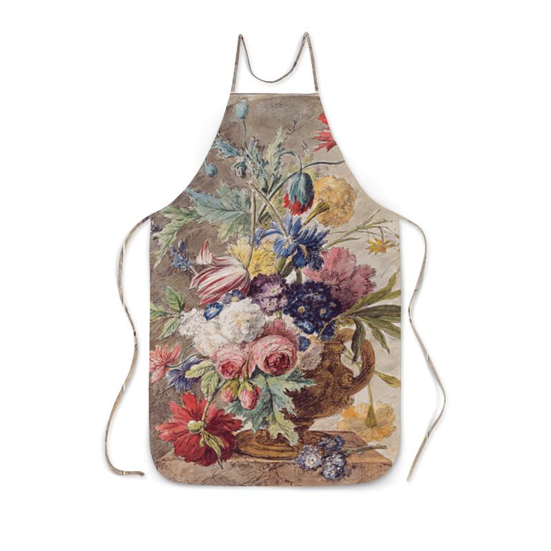 Printio Фартук с полной запечаткой Цветочный натюрморт (ян ван хёйсум) printio открытка цветочный натюрморт ян ван хёйсум