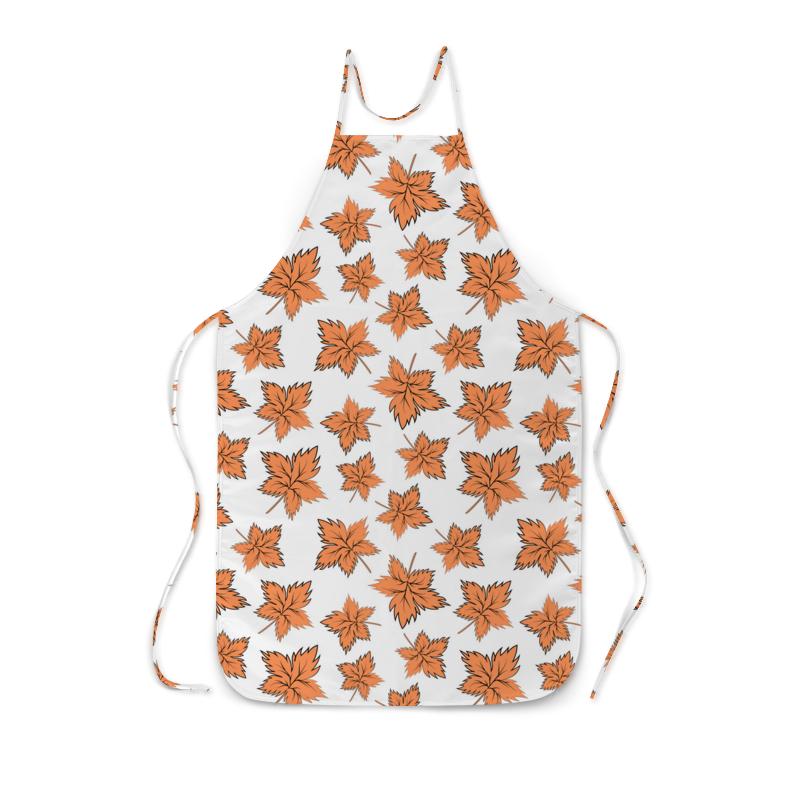 Printio Фартук с полной запечаткой Кленовые листья оранжевые