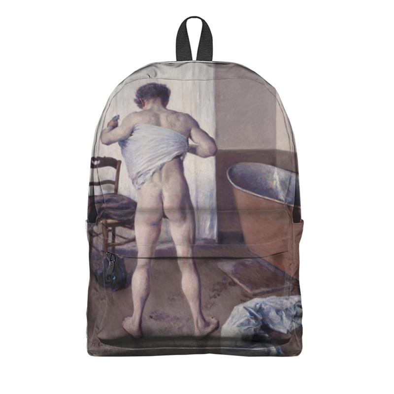 Фото - Printio Рюкзак 3D Мужчина в ванной (картина кайботта) printio часы круглые из пластика воздушные замки картина андерса цорна