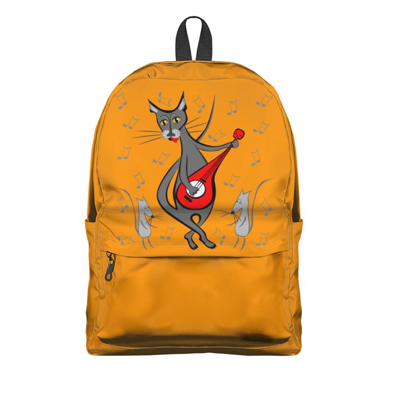 Фото - Printio Рюкзак 3D Кот с гитарой - мышь в танце printio плакат a3 29 7×42 модная девушка в платке фэшн иллюстрация