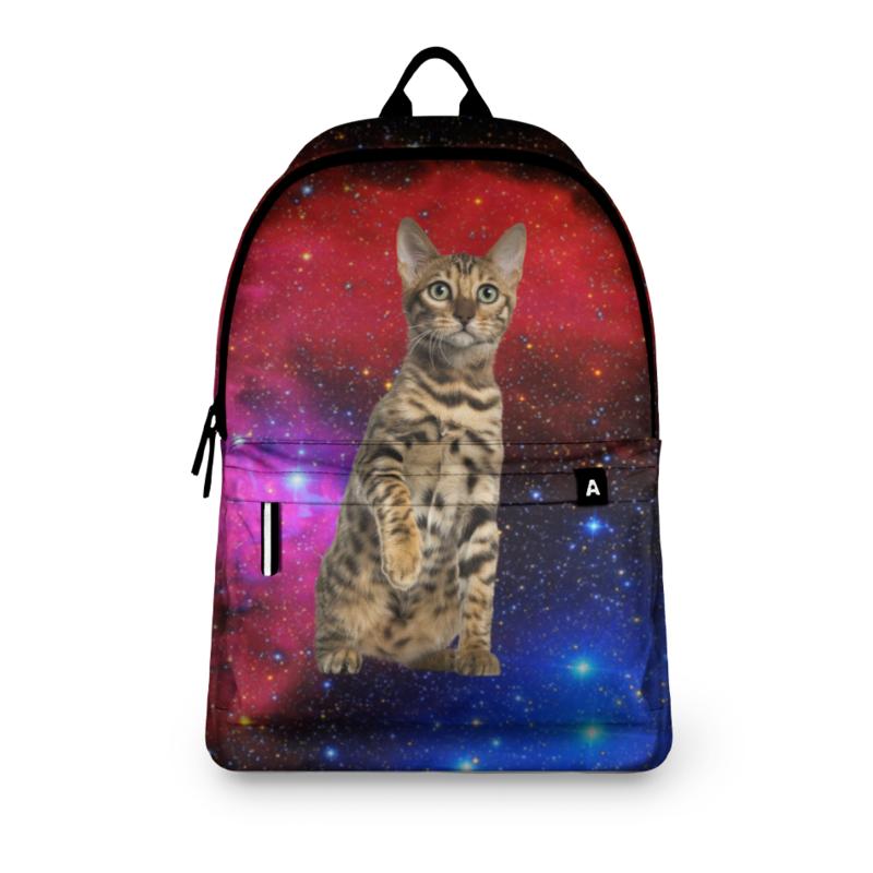 Printio Рюкзак 3D кот в космосе