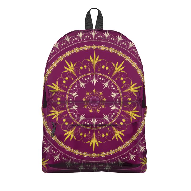 Фото - Printio Рюкзак 3D Абстрактный цветочный орнамент в круге рюкзак 605030 бордовый