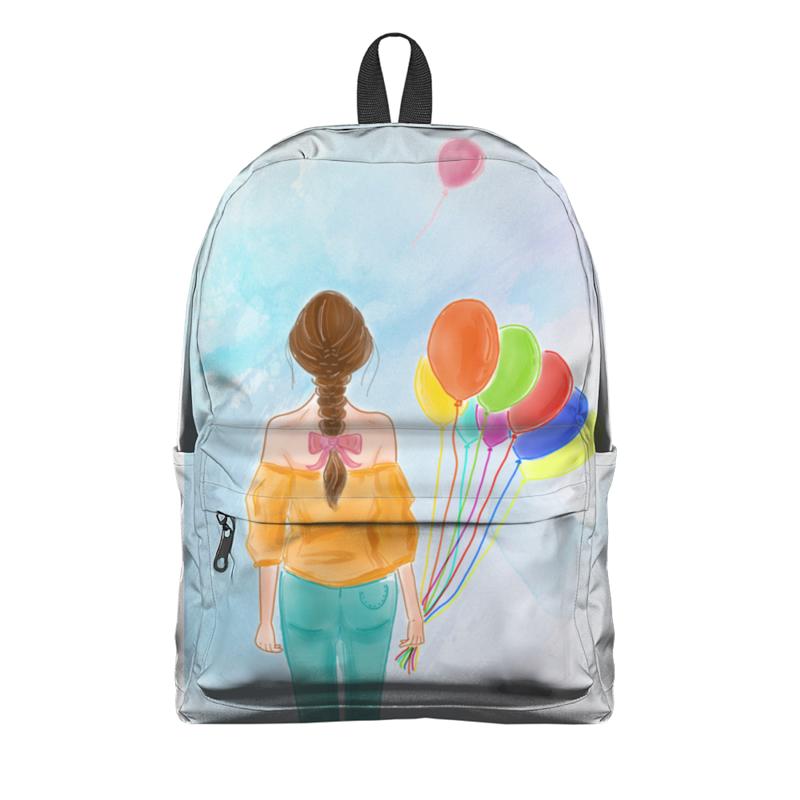 Фото - Printio Рюкзак 3D Девушка с воздушными шарами printio плакат a3 29 7×42 модная девушка в платке фэшн иллюстрация