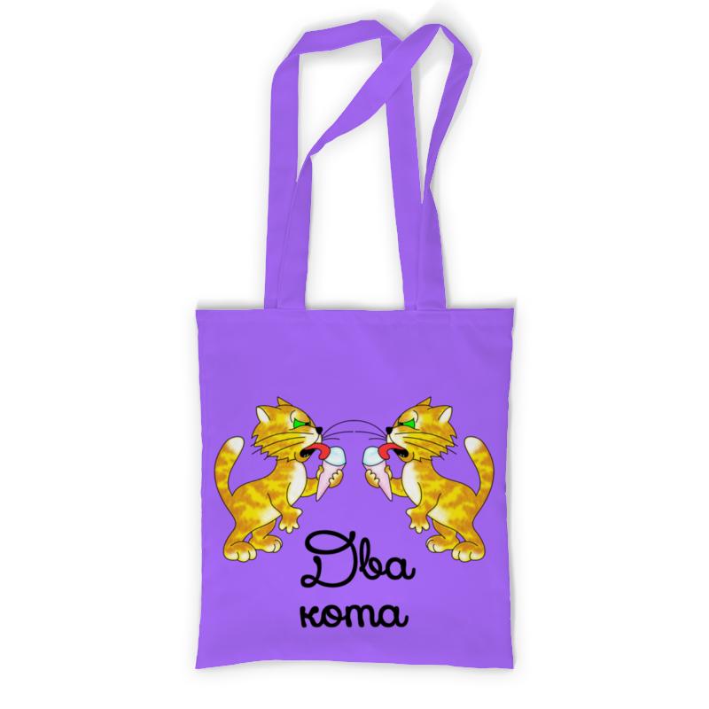 Printio Сумка с полной запечаткой Два кота - 2 printio сумка с абстрактным рисунком