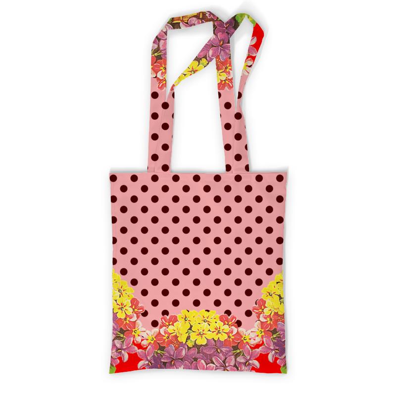 Printio Сумка с полной запечаткой Кокетливый горошек. printio сумка с абстрактным рисунком